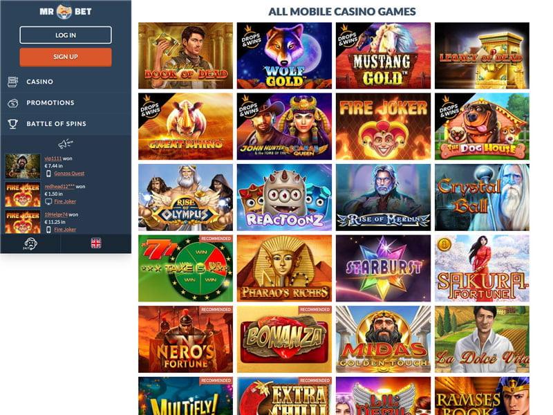 Siru Mobile Casinos