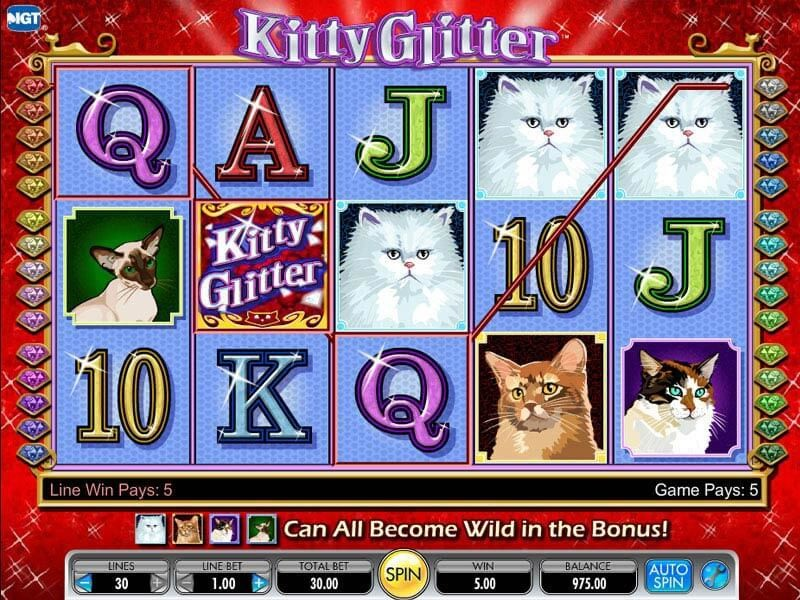 Kitty Glitter Slot Machine Slot